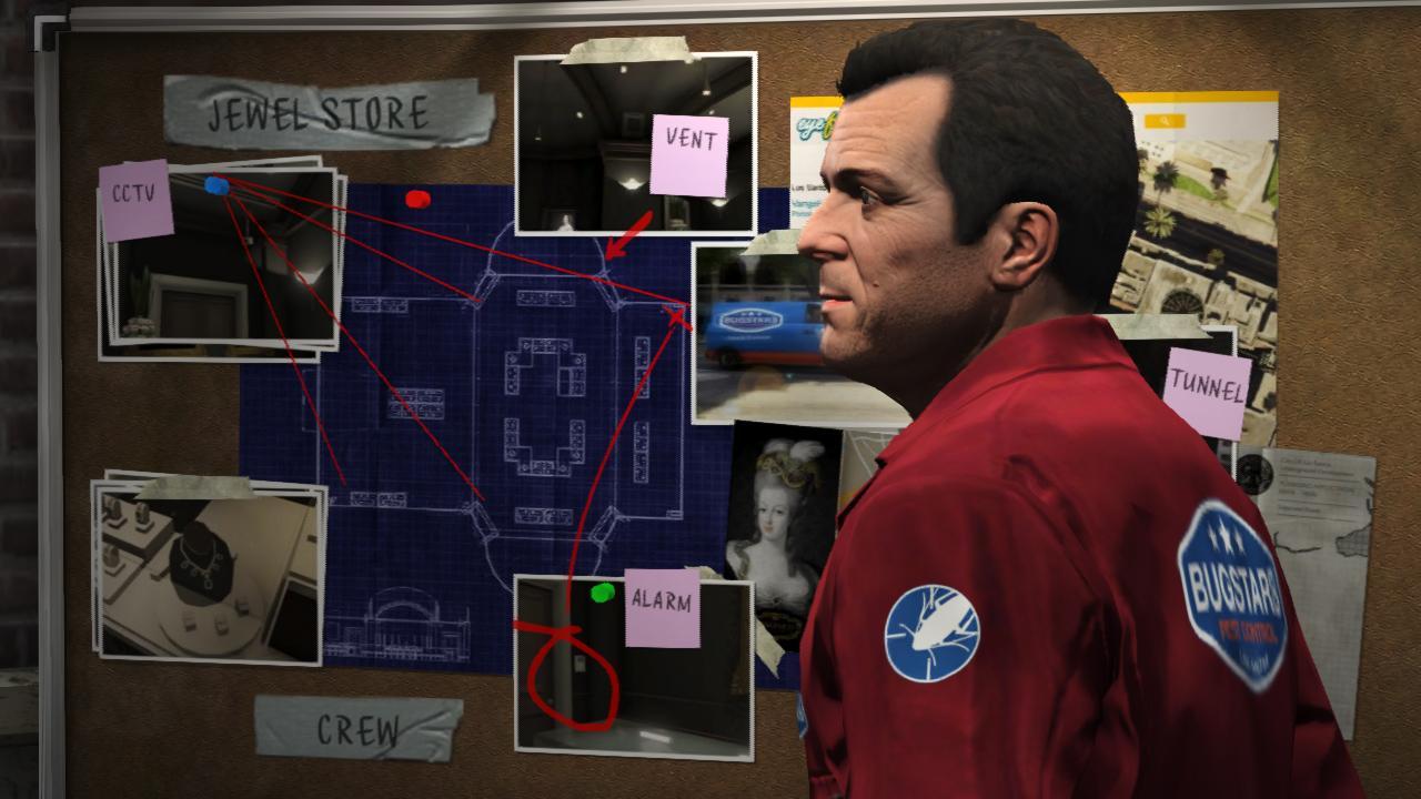 Grand Theft Auto V heist plans بزرگ ترین سرقت تاریخ، این بار با سه نفر | نقد و بررسی Grand Theft Auto V