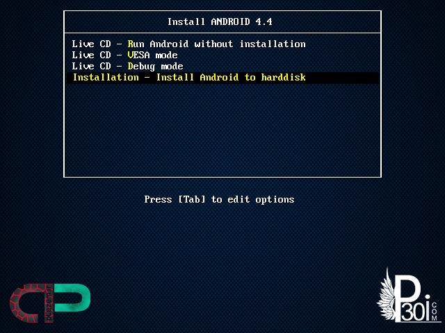 آموزش نصب سیستم عامل اندروید | ساتورآموزش نصب سیستم عامل اندروید(4.4) بر روی کامپیوتر بدون برنامهی کمکی