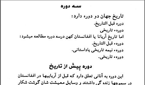tarikhe feshorde afghanestan