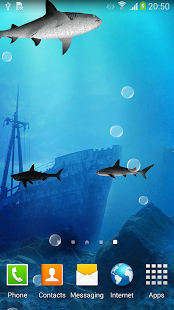 ۳D Sharks Live Wallpaper 3